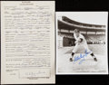Autographs:Photos, 1957 Whitey Ford Signed Questionnaire and Photograph....