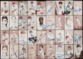 Autographs:Sports Cards, 1947-66 Exhibits & Post Cards Baseball Signed Card Collection (74)....