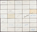 Autographs:Index Cards, Baseball Greats Signed Index Card Lot of 65....