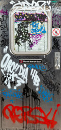 Collectible:Contemporary, Various Artists . MTA Subway Door. Mixed media on subway door. 75-1/2 x 36 inches (191.8 x 91.4 cm). ...