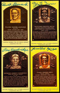 Autographs:Post Cards, Baseball Hall of Fame Signed Plaque Postcard Lot of 4 - Negro League Legends.... (Total: 4 items)