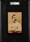 "Boxing Cards:General, C. 1890's John L. Sullivan (Arms Crossed) ""Champion Of The World"" Cabinet Photo SGC Authentic...."