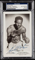 Autographs:Post Cards, Ezzard Charles Signed Postcard, PSA/DNA Authentic....