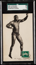 "Boxing Cards:General, 1909-15 Jack Johnson ""Champion Du Monde"" French Postcard #222 SGC 20 Fair 1.5...."
