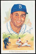 Autographs:Post Cards, 1989 Roy Campanella Perez-Steele Celebration Signed Postcard....