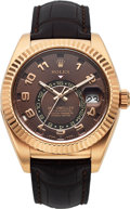 Timepieces:Wristwatch, Rolex, Everose Sky-Dweller, Automatic Dual Time Annual Calendar, Ref. 326135 circa 2012. ...