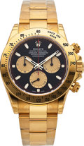 Timepieces:Wristwatch, Rolex, Unworn Daytona Cosmograph, 18k Yellow Gold, Ref. 116528, Circa 2015. ...
