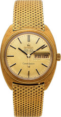 Timepieces:Wristwatch, Omega, Very Fine Constellation Day-Date, 18K Yellow Gold Case and Bracelet, Ref. 168.029, Circa 1969. ...