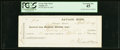 Obsoletes By State:Nevada, Virginia, NV- Savage Mine Check $91 Apr. 30, 1869 PCGS Extremely Fine 45.. ...