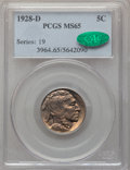 Buffalo Nickels: , 1928-D 5C MS65 PCGS. CAC. PCGS Population: (416/60). NGC Census: (133/7). CDN: $425 Whsle. Bid for problem-free NGC/PCGS MS...
