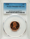 Proof Lincoln Cents, 1950 1C PR66 Red Deep Cameo PCGS. PCGS Population: (21/8). NGC Census: (22/20)....