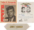 Political:Small Paper (1896-present), John F. Kennedy: Three Items, Two Quite Scarce....