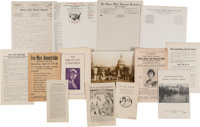 Pro and Anti-Woman's Suffrage: An Outstanding Collection of Paper Ephemera