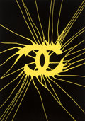 Prints & Multiples:Print, Zevs X Aquirre Schwarz. Impacted Chanel, 2016. Screenprint in colors on Somerset Satin paper. 27-1/2 x 19-3/4 inches (69...