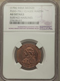 """India, India: British India. Bengal Presidency bronze """"Claude Martin"""" Medal ND (1796) AU Details (Surface Hairlines) NGC,..."""