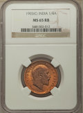India:British India, India: British India. Edward VII 1/4 Anna 1903-(c) MS65 Red and Brown NGC,...