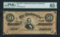 Confederate Notes:1864 Issues, T66 $50 1864 PF-8 Cr. 499 PMG Gem Uncirculated 65 EPQ.. ...