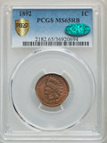 Indian Cents, 1892 1C MS65 Red and Brown PCGS Gold Shield. CAC. PCGS Population: (41/1). NGC Census: (61/5). CDN: $500 Whsle. Bid for pro...