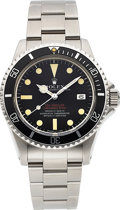 Timepieces:Wristwatch, Rolex, Double Red Sea-Dweller/Submariner, Ref. 1655, StainlessSteel, Circa 1974. ...