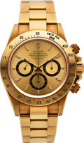 "Timepieces:Wristwatch, Rolex, Fine Cosmograph ""Zenith"" Daytona, 18K Yellow Gold, Ref.16528, Full Set, Circa 1997. ..."