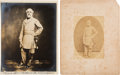 Photography:Cabinet Photos, Robert E. Lee: Mounted Albumen by Vannerson Plus Edward Valentine's Personal Copy of the Standard Variety of the Same Pose. ... (Total: 2 Items)