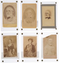 Photography:CDVs, Robert E. Lee: Six Cartes-de-Visite [CDV] Including Two Inscribed by Mary Custis Lee. ...