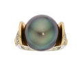 Estate Jewelry:Rings, South Sea Cultured Pearl, Diamond, Gold Ring, Jean-François Albert. ...