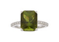 Estate Jewelry:Rings, Tourmaline, Diamond, White Gold Ring The ring ...