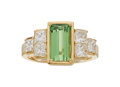 Estate Jewelry:Rings, Tsavorite Garnet, Diamond, Gold Ring. ...
