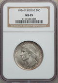 Commemorative Silver, 1936-D 50C Boone MS65 NGC. NGC Census: (397/229). PCGS Population: (578/348). CDN: $170 Whsle. Bid for problem-free NGC/PCG...