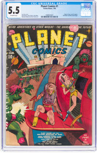 Planet Comics #1 (Fiction House, 1940) CGC FN- 5.5 Off-white pages