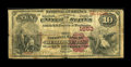 National Bank Notes:Vermont, Bellows Falls, VT - $10 1882 Brown Back Fr. 482 The NB of Bellows Falls Ch. # 1653. ...