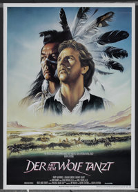 """Dances With Wolves (Orion, 1990). German A1 (23"""" X 33""""). Academy Award Winner"""