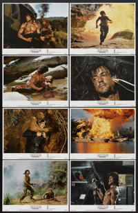 "Rambo: First Blood Part II (Tri-Star, 1985). Lobby Card Set of 8 (11"" X 14""). Action.... (Total: 8 Items)"