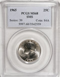 SMS Washington Quarters: , 1965 25C SMS MS68 PCGS. PCGS Population (49/0). NGC Census: (0/0).Mintage: 2,300,000. Numismedia Wsl. Price for NGC/PCGS c...