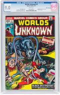 Bronze Age (1970-1979):Horror, Worlds Unknown #5 White Mountain Pedigree (Marvel, 1974) CGC VF/NM9.0 White pages....