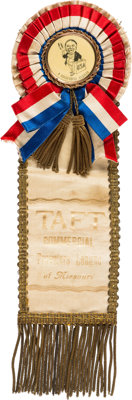 William Howard Taft: Awesome, Unique, Commercial Travelers Ribbon