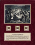 Political:Presidential Relics, Abraham Lincoln Assassination: Deathbed Relic and Hair Samples. ...