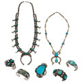 Estate Jewelry:Lots, Turquoise, Silver Jewelry . ... (Total: 7 Items)