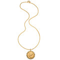 Estate Jewelry:Necklaces, Gold V Ducat, Gold Pendant-Necklace. ...