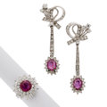 Estate Jewelry:Suites, Ruby, Diamond, White Gold Suite. ... (Total: 2 Items)