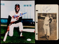 Autographs:Photos, Aaron & Mays Signed Image Lot of 2....