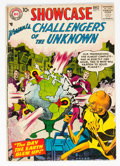 Silver Age (1956-1969):Superhero, Showcase #11 Challengers of the Unknown (DC, 1957) Condition: GD/VG....