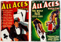 Pulps:Adventure, All Aces Magazine #1 and 2 Group (Popular, 1936) Condition: AverageVG+.... (Total: 2 Items)