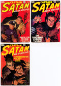 Pulps:Adventure, Captain Satan Group of 3 (Popular, 1938) Condition: Average VG.... (Total: 3 Items)