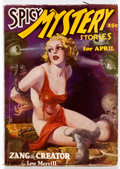 Pulps:Horror, Spicy Mystery Stories - April 1936 (Culture) Condition: VG/FN....