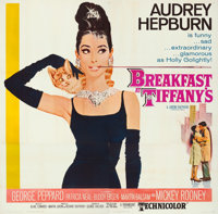 "Breakfast at Tiffany's (Paramount, 1961). Flat Folded, Very Fine-. Six Sheet (80"" X 79""). Robert McGinnis Artw..."
