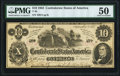 Confederate Notes:1862 Issues, T46 $10 1862 PF-2 Cr. 343 PMG About Uncirculated 50.. ...