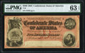 Confederate Notes:1864 Issues, T64 $500 1864 PF-3 Cr. 489B PMG Choice Uncirculated 63 EPQ.. ...