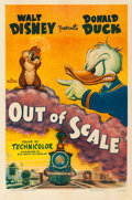 "Movie Posters:Animation, Donald Duck in Out of Scale (RKO, 1951). Fine/Very Fine on Linen. One Sheet (27"" X 41"").. ..."